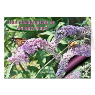 God Gives Us Another Page-add your words Greeting Card