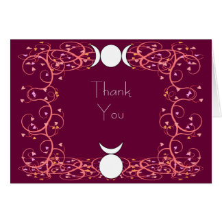 God & Goddess Thank You Card for Wiccan Weddings