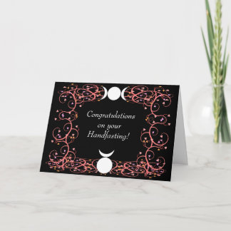 God & Goddess Wiccan Handfasting Congratulations Card
