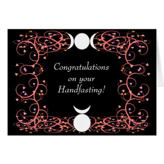 God & Goddess Wiccan Handfasting Congratulations Card