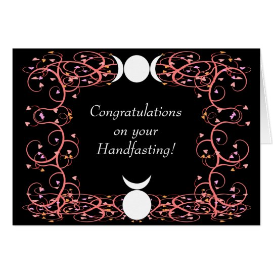God Goddess Wiccan Handfasting Congratulations Card