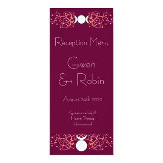 God & Goddess Wiccan Handfasting Reception Menu 4x9.25 Paper Invitation Card