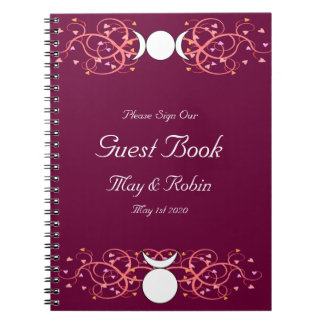 God & Goddess Wiccan Wedding Reception Guestbook Notebook