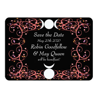 God & Goddess Wiccan Wedding Save the Date Card