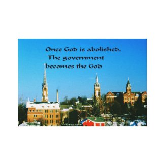 God,Government Canvas Print
