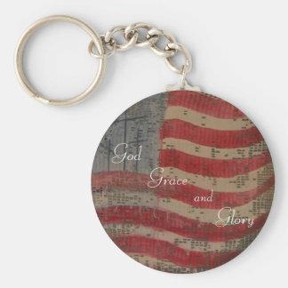 God, Grace and Glory Keychain