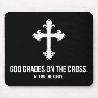 God Grades on the Cross Mousepad