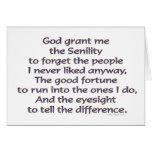 God Grant Me Humor Greeting Card