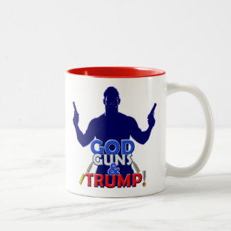 God Guns and Trump Red White Blue 2017 Coffee Cup