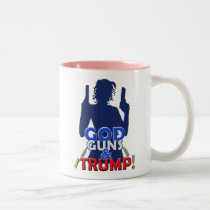 God Guns and Trump Red White Blue Arms Coffee Cup