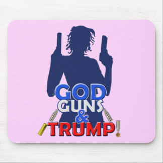 God Guns and Trump Red White & Blue Arms Mousepad