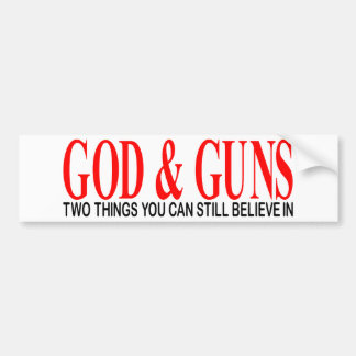 GOD & GUNS BUMPER STICKERS