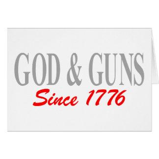 GOD & GUNS GREETING CARD