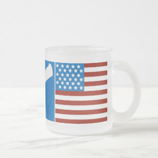 God, Guns, Glory 10 Oz Frosted Glass Coffee Mug