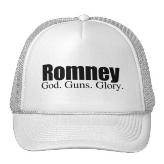 GOD GUNS GLORY WITH ROMNEY.png Hats