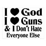 God & Guns Post Card