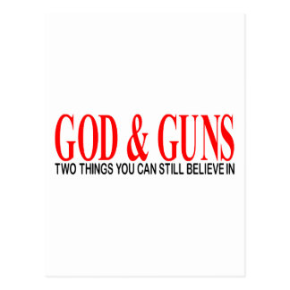 GOD & GUNS POSTCARD