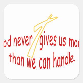 God Handles Square Sticker