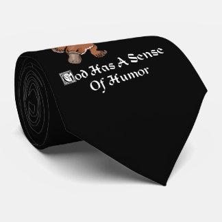 God Has A Sense Of Humor - Funny Platypus Neck Tie