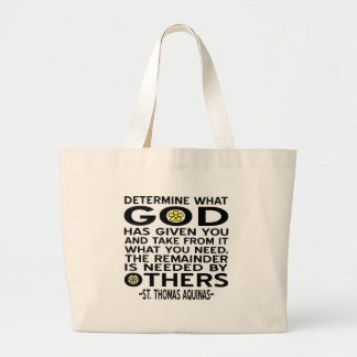 God Has Given Large Tote Bag