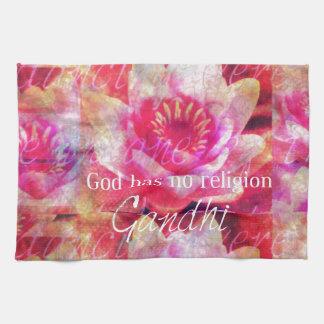 God has no religion - Gandhi quote Towels