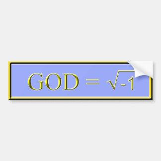 GOD has no Solution Bumper Sticker - Periwinkle Car Bumper Sticker