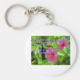 God has not given us a spirit of fear. keychain