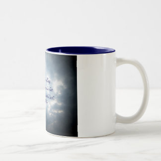 God has two dwellings;one in heaven... Two-Tone coffee mug