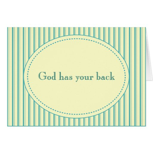 God Has Your Back Card