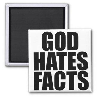 GOD HATES FACTS REFRIGERATOR MAGNETS