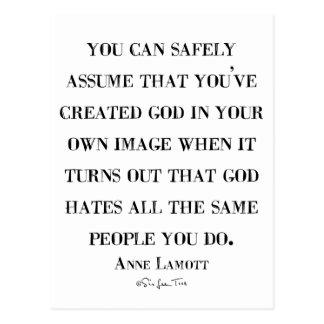 God Hates Like You Postcard