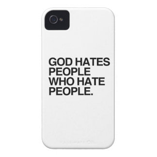 GOD HATES PEOPLE WHO HATE PEOPLE -.png iPhone 4 Cover