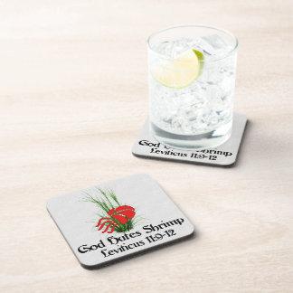 God Hates Shrimp Beverage Coaster