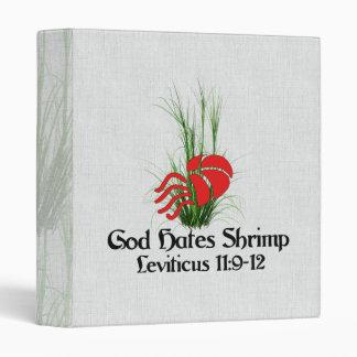God Hates Shrimp Binder