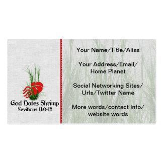God Hates Shrimp Double-Sided Standard Business Cards (Pack Of 100)