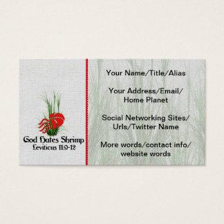 God Hates Shrimp Business Card