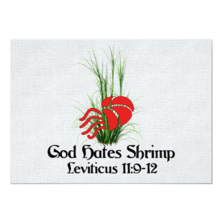 God Hates Shrimp Card