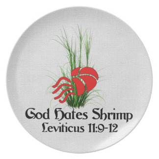God Hates Shrimp Plate