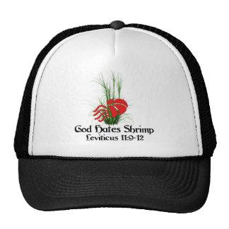 God Hates Shrimp Trucker Hats