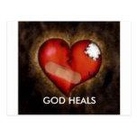 GOD HEALS POST CARD
