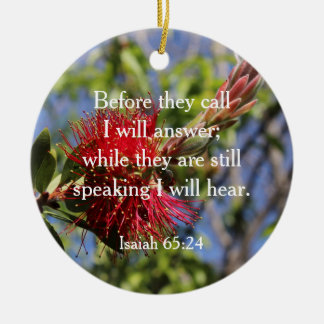 God Hears You Bible Verse Ornament