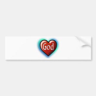 God Heart Car Bumper Sticker