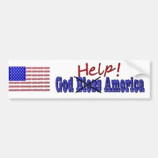God Help America Car Bumper Sticker
