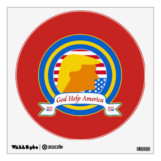 God Help America Resist Anti Trump Funny Wall Sticker