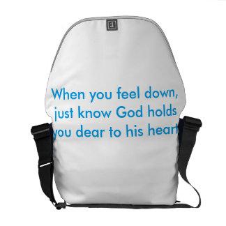God holds you Dear Messenger Bag