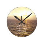 God & Holy Cross Round Wall Clocks