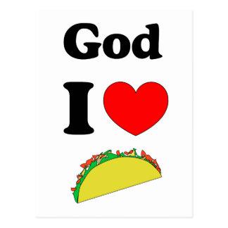 God I Love Tacos! Postcard