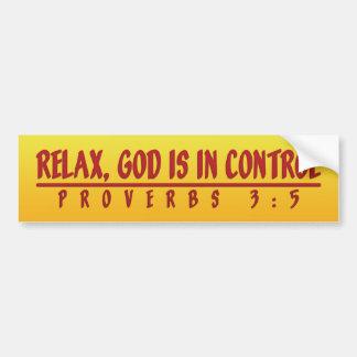 God In Control Car Bumper Sticker