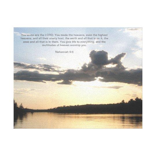 God In Nautre Canvas Print