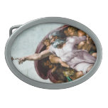 God in The Descent of Adam - Oval Belt Buckle
